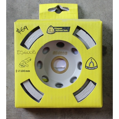 Klingspor Diamond Cup Grinding Wheel DS600B –100MM
