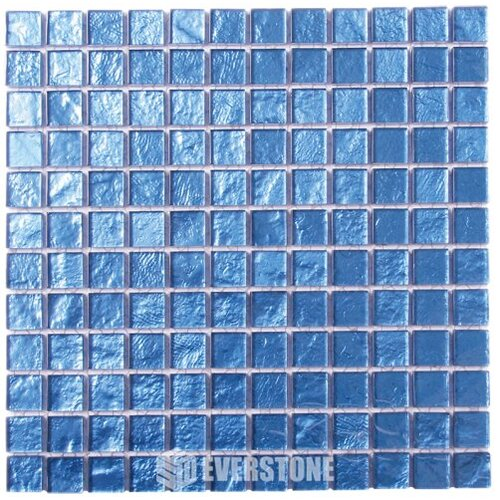 EE0098 Glass Mosaic Blue 25x25mm