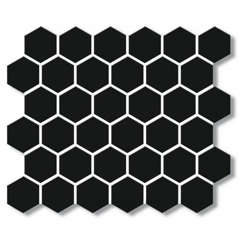 EE2138 - Black Matt Porcelain Mosaic Medium Hex