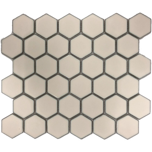 Hexagon Antique Off White Cream PD0083