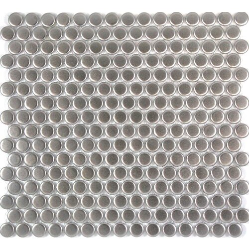 PD0198 - 19mm Silver/Pewter Look Natural Finish Penny Round